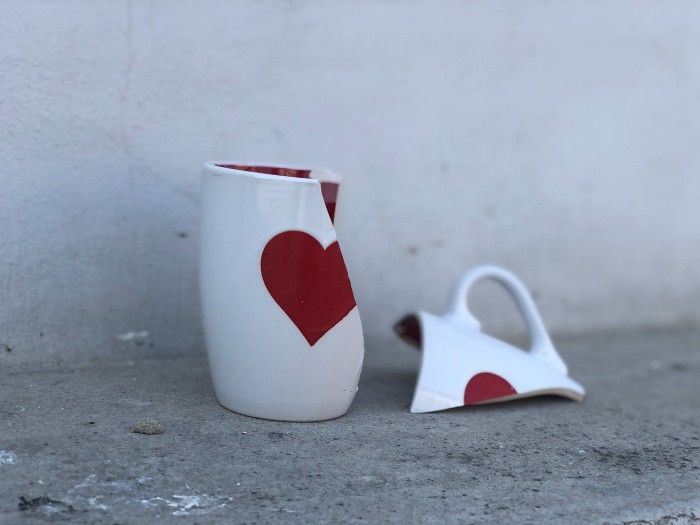 broken cup showing the perfection of imperfection